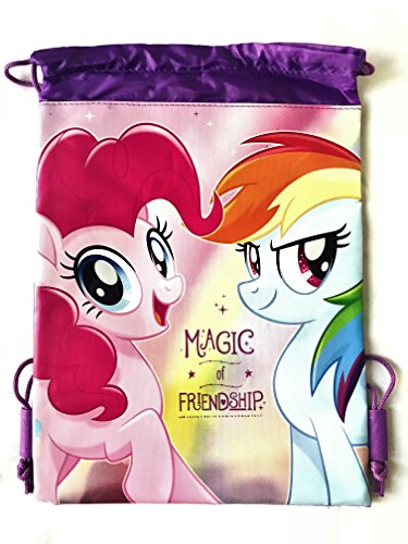 My Little Pony Wallet-Passport Bag- String Sling Tote Bag Backpack (PURPLE SLING BAG) -
