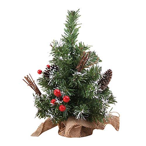 BESTOYARD Mini Artificial Christmas Tree with Base Desktop Decorations Party Favors