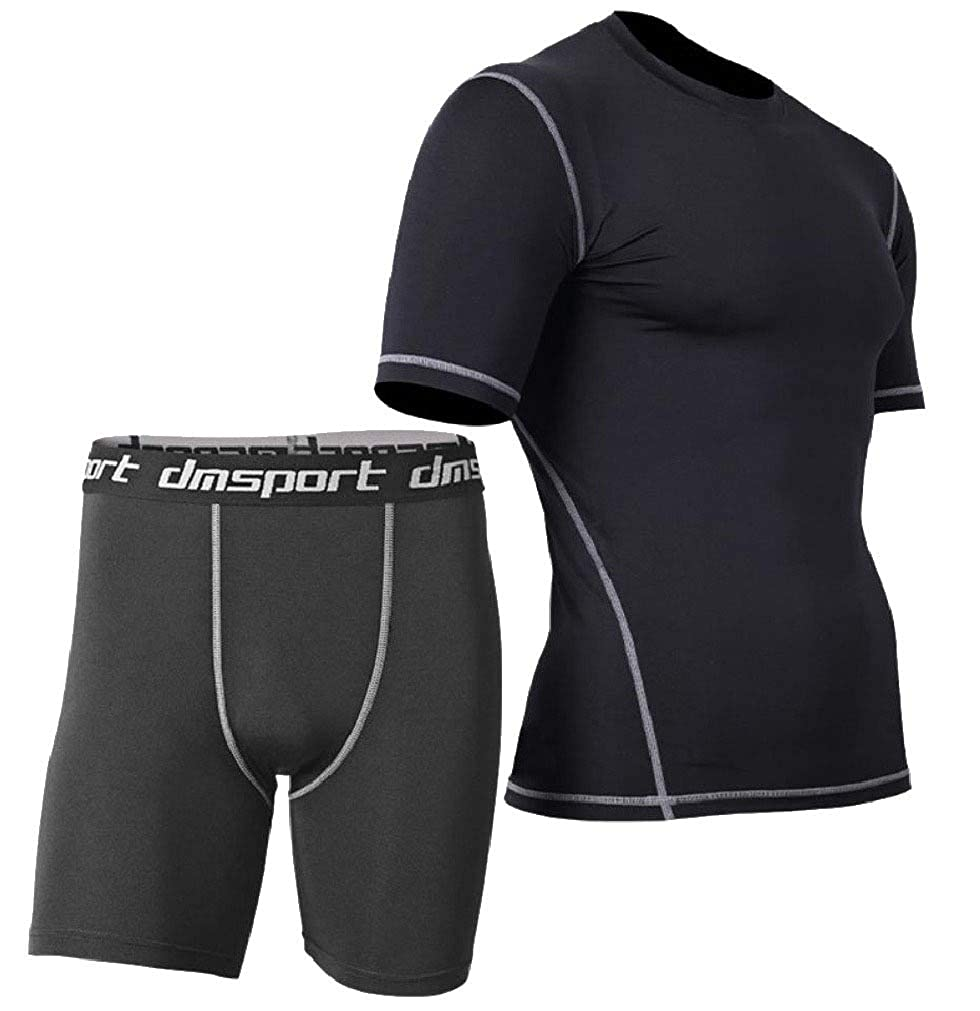 Andopa Mens Basic Style Quick Dry Athletic Bodycon Compression Activewear