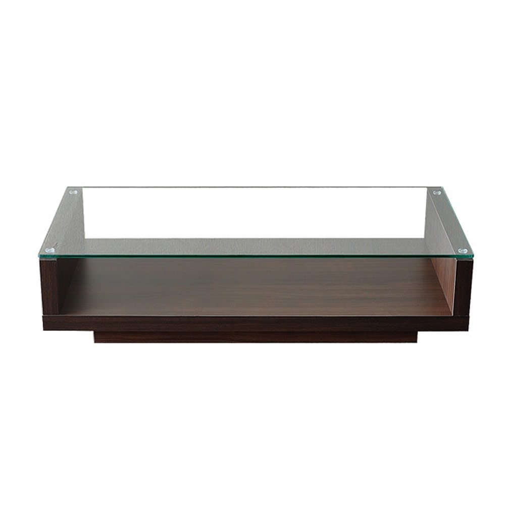 エアリゾーム ローテーブル おしゃれ 北欧 リビングテーブル ガラステーブル フロアテーブル OLBIA (オルビア) ブラウン B079GR2FCW  ブラウン