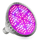 LVJING Full Spectrum 80W Led Grow Light Bulb, E27 Base, 120pcs 5730smd, Red Blue IR UV White Light,...