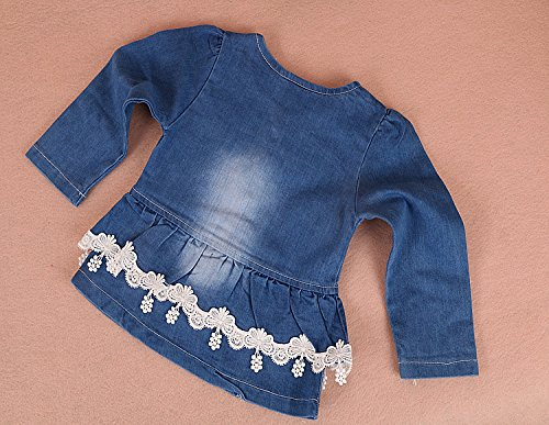 357361960 YAO Spring Autumn Infant Little Baby Girls Clothing Set 3 Pieces Sets T  Shirt Jacket and