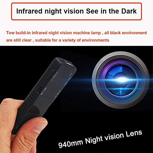 Amazon.com : Camera Mini Pen cam 1080p Infrared Light Night Vision Camcorder Recording dvr dv Audio Video Record Micro 800mah Small : Camera & Photo