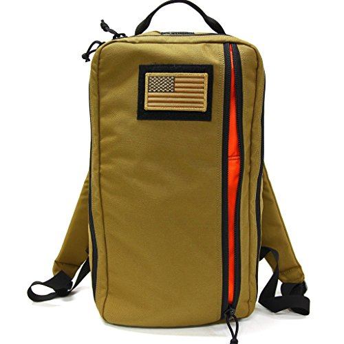 """Lightweight Tactical Backpack for Everyday Use, Small Multicam Backpack Great for Work or Play, Hand Sewn with Military Spec 1000D Cordura, Made in the USA, """"The Battalion 12L"""" (Coyote Black)"""
