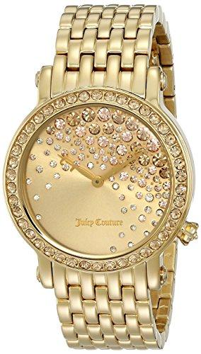 Juicy Couture Women's 1901280 La Luxe Analog Display Quartz Gold Watch