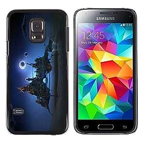 PC/Aluminum Funda Carcasa protectora para Samsung Galaxy S5 Mini, SM-G800, NOT S5 REGULAR! Fantasy city In The Sky / JUSTGO PHONE PROTECTOR