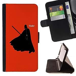 - Darth iVader Funny - - Prima caja de la PU billetera de cuero con ranuras para tarjetas, efectivo desmontable correa para l Funny HouseFOR Sony Xperia Z3 D6603