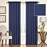 Eclipse Samara Blackout Energy-Efficient 42″x 63″ Curtain Panel, Set of 2 – Indigo