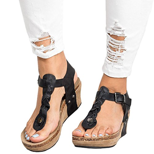 Open Clip Shoes Eleganti Toe Casuale Tacco Donna Toe Moda Tacco con Shoes Sandali Zeppa Sexy Minetom retr Alto xg6FxX