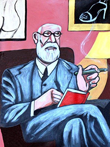 SIGMUND FREUD PRINT POSTER man cave psychiatry psychoanaylsis complete dream sex book Psychological work