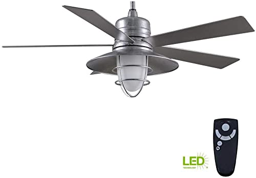 Home Decorators Collection Grayton 54 in. Indoor/Outdoor Galvanized Ceiling Fan