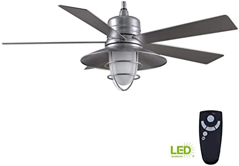 Amazon Com Home Decorators Collection Grayton 54 In Indoor Outdoor Galvanized Ceiling Fan Home Kitchen
