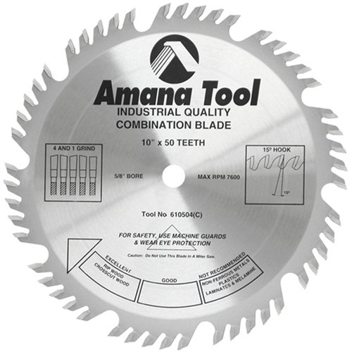 Amana Tool - 610504 Carbide Tipped Combination Ripping & Crosscut 10