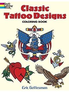 Classic Tattoo Designs Coloring Book Dover Design Books