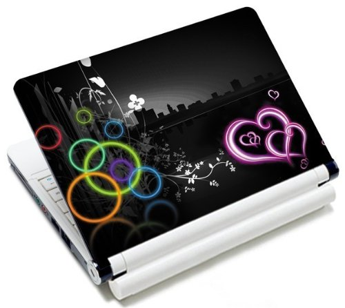 MySleeveDesign Notebook Skin Aufkleber Folie Sticker für Geräte der Größe 10,2 Zoll / 11,6 - 12,1 Zoll / 13,3 Zoll / 14 Zoll / 15,4 - 15,6 Zoll mit VERSCH. DESIGNS - Colored Circles