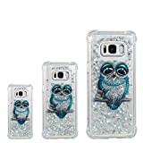 S8 Case, Galaxy S8 Case, Lwaisy Flowing Liquid Floating Shock-Absorbing Anti-Scratch Flexible TPU Bumper Glitter Cover Phone Case for Samsung Galaxy S8 (2017), Owl