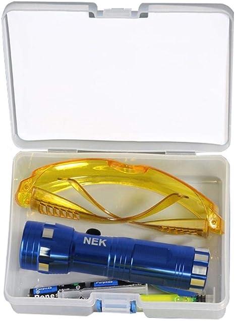 POHOVE - Kit de detector de fugas fluorescentes para coche, accesorios de repuesto para uso ecológico, tinte UV profesional, herramientas de ...