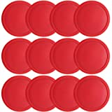 One dozen Large 3 1/4 inch Red Air Hockey Pucks for Full Size Air Hockey Tables by Brybelly