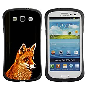 Be-Star Impreso Colorido Diseño Antichoque Caso Del iFace Primera Clase Tpu Carcasa Funda Case Cubierta Par SAMSUNG Galaxy S3 III / i9300 / i747 ( Glowing Flaming Fox )