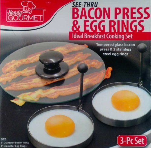 Price comparison product image Handy Gourmet Bacon Press & Egg Rings-Making Breakfast Easy