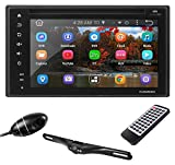 Premium 6In Double-DIN Android Car Stereo Receiver With Bluetooth and GPS Navigation - DVR Dash Cam, Rearview Backup Camera - Touchscreen Display With Wi-Fi Web Browsing And App Download (PLDNAND623)
