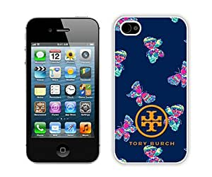 Fashionable And Unique Designed Case For iPhone 4S With Tory Burch 25 White Phone Case