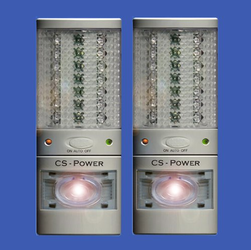 Double Pack White - Emergency Power Failure Outage Light ...