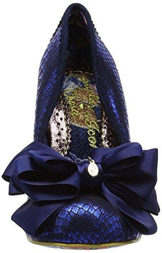 Irregular Choice Ascot Blue Glitter Femmes Talons Court Chaussures