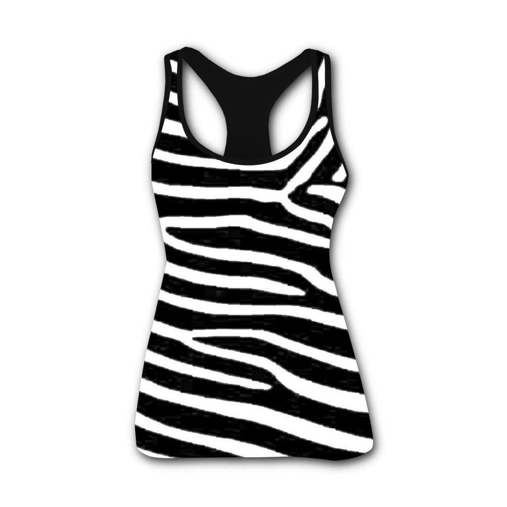 Zebra Print 3D Print Casual Custom Sleeveless Tanks Vest Shirt Women Girl XXL