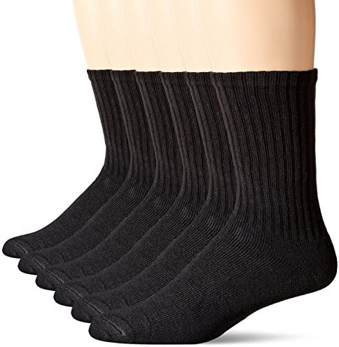Dockers Basic Cushion Crew Socks, 6 Pair