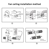 SAILFLO 4 Inch Duct Inline Fan 76 CFM 110V 12W