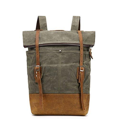 mefly hule impermeable mochila mochila bolsa de Baotou, Army green Army green