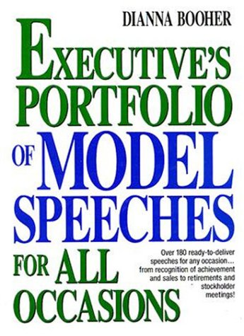 Professional Model Portfolios - The Executive's Portfolio of Model Speeches for All Occasions (Business Classics (Hardcover Prentice Hall))