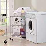 Rolling Laundry Cart Chrome