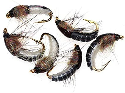 size 14 March Brown Nymph 6 pcs