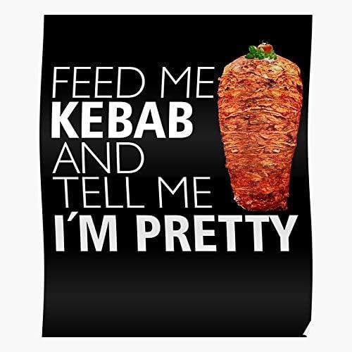 Food Funny Kebab Turkish I Meat Doner Fast Love I Fsgteam- Home Decor Wall Art Print Poster !