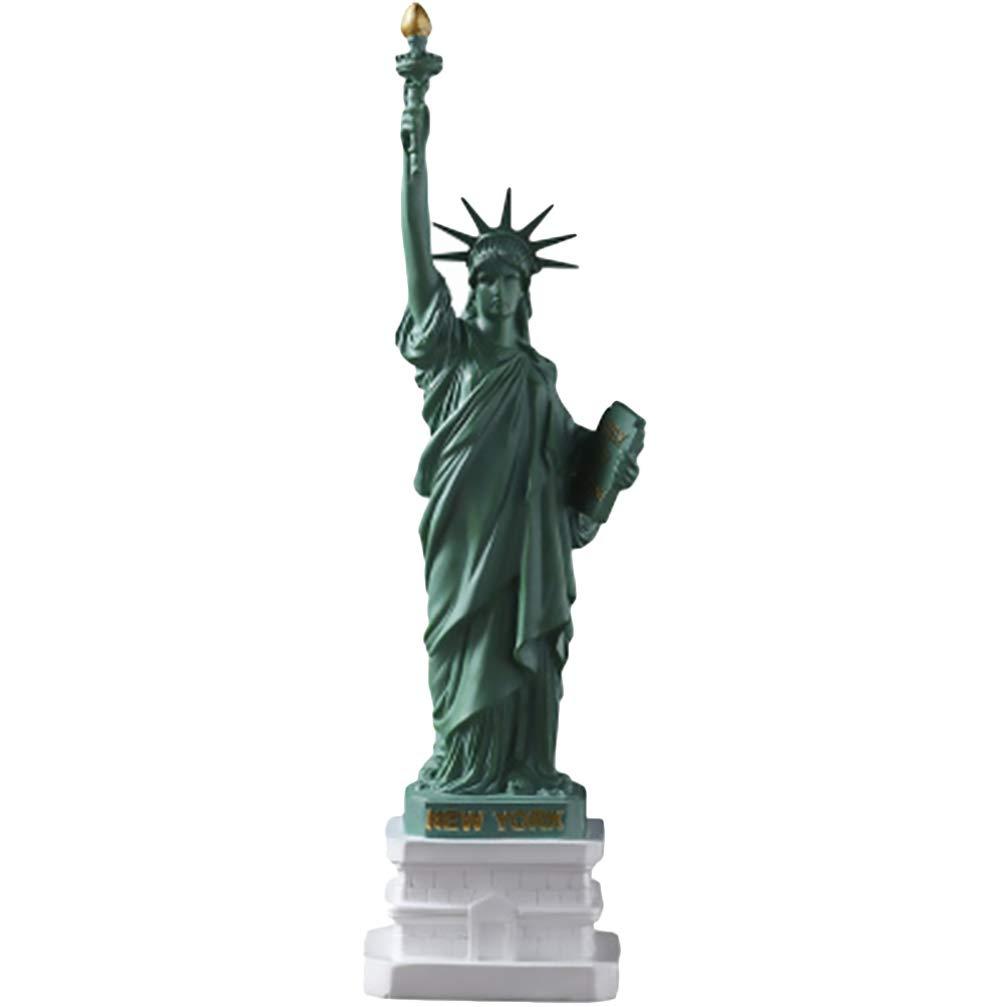 LIOOBO Statue de La Libert/é Statue Sculpture New York City Liberty Island Collection Souvenirs Figurines M/étal Mod/èle D/écoration Vert Un