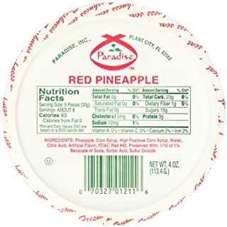 Paradise Red Pineapple Wedges, 4 Ounce (Pack of 12)