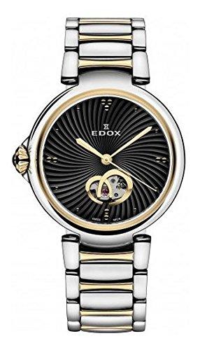 Edox Women's 85025 357RM NIR LaPassion Analog Display Swiss Automatic Two Tone Watch