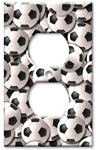 (Outlet Cover Wall Plate - Sports: Soccer Balls)
