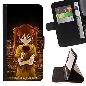 Jordan Colourful Shop - Cute Anybody There Japanese Girl For Apple Iphone 5C - < Leather Case Absorci????n cubierta de la caja de alto impacto > -