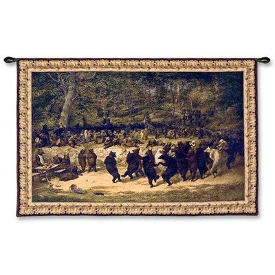 Fine Art Tapestries ''Bear Dance'' Wall Tapestry by Fine Art Tapestries