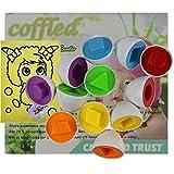 6 Pcs Smart Capsule Egg Kids Baby Study Color Shape Blocks Puzzle ...