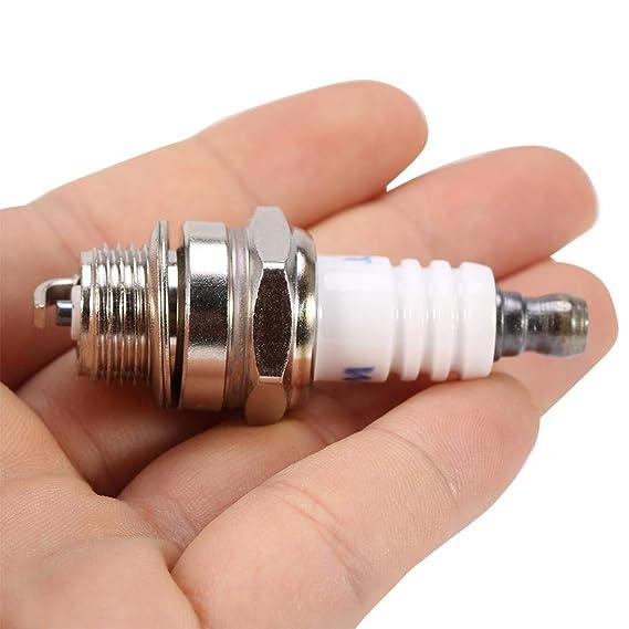(Paquete de 3) motosierra cortacésped bujía accesorio de motor pequeño cortacésped piezas de repuesto para motores Briggs 0026 Stratton, 55 * 22 mm