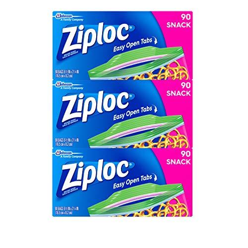 Ziploc Snack Bags, Snack, 3 Pack, 90