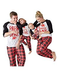 Baonmy Family Matching Christmas Sleepwear Pajamas Set