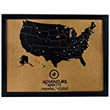united states cork map - Pushpin Cork Board USA Map and Pins | US Travel Tracker Map to Track Past and Future Bucket List Destinations