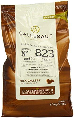 Belgian Chocolates Milk - Belgian Milk Chocolate Baking Callets (Chips) - 33.6% - 1 bag, 5.5 lbs