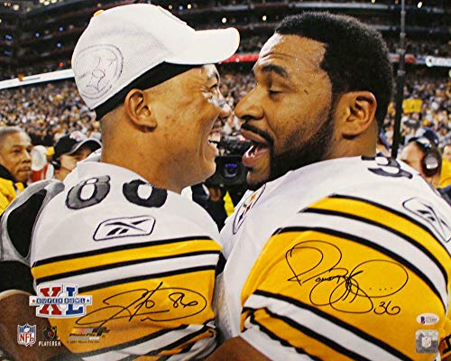 Jerome Bettis & Hines Ward Signed Pittsburgh Steelers 16x20 Photo BAS