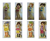 Darius 63 pcs Wooden Magnetic Dress-Up Dolls